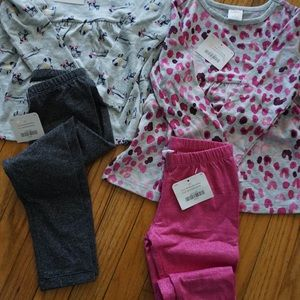 NWT 3T Gymboree Long Sleeve Shirts w/ Leggings